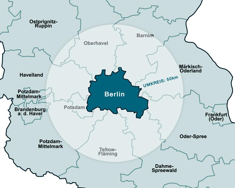 Eigenheim Union Ankaufsprofil Karte Berlin Brandenburg